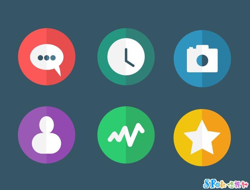 12款平面化高质感按钮-美工素材-sr网页设计教学,资源